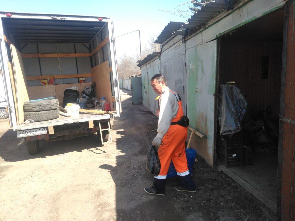 вывоз мусора из гаража